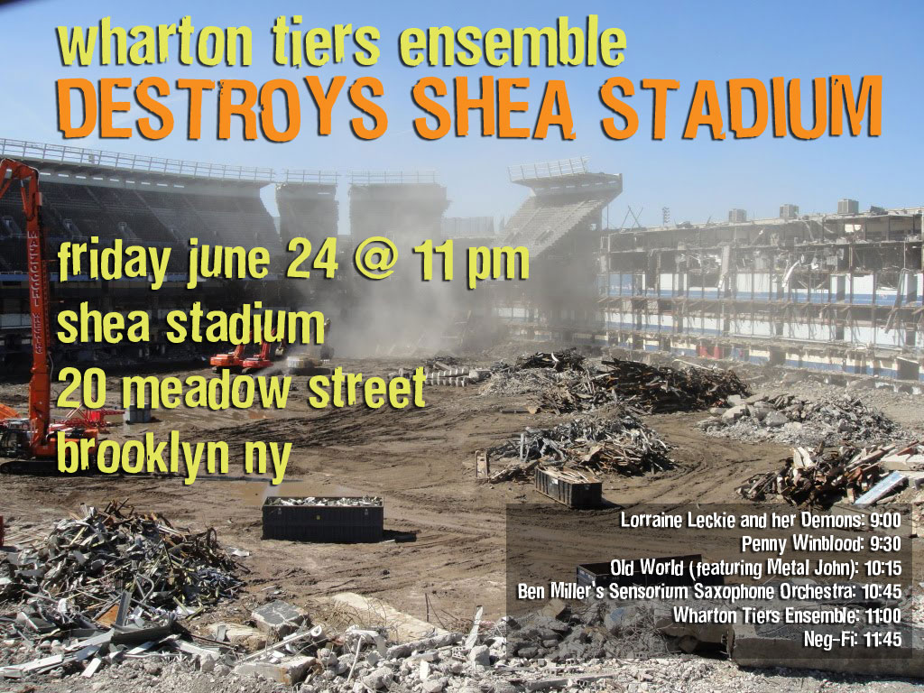 wharton tiers ensemble destroys shea stadium