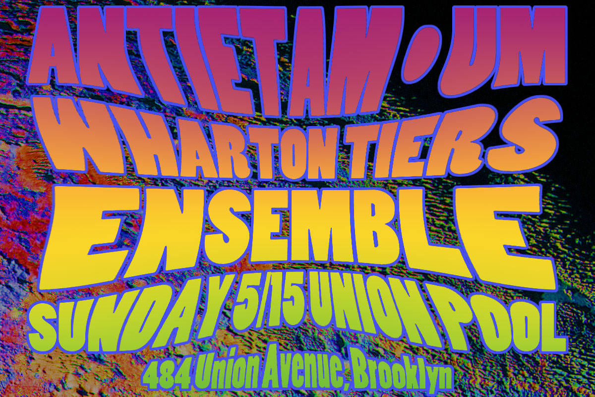 Antietam / Um / Wharton Tiers Ensemble at Union Pool May 15, 2016