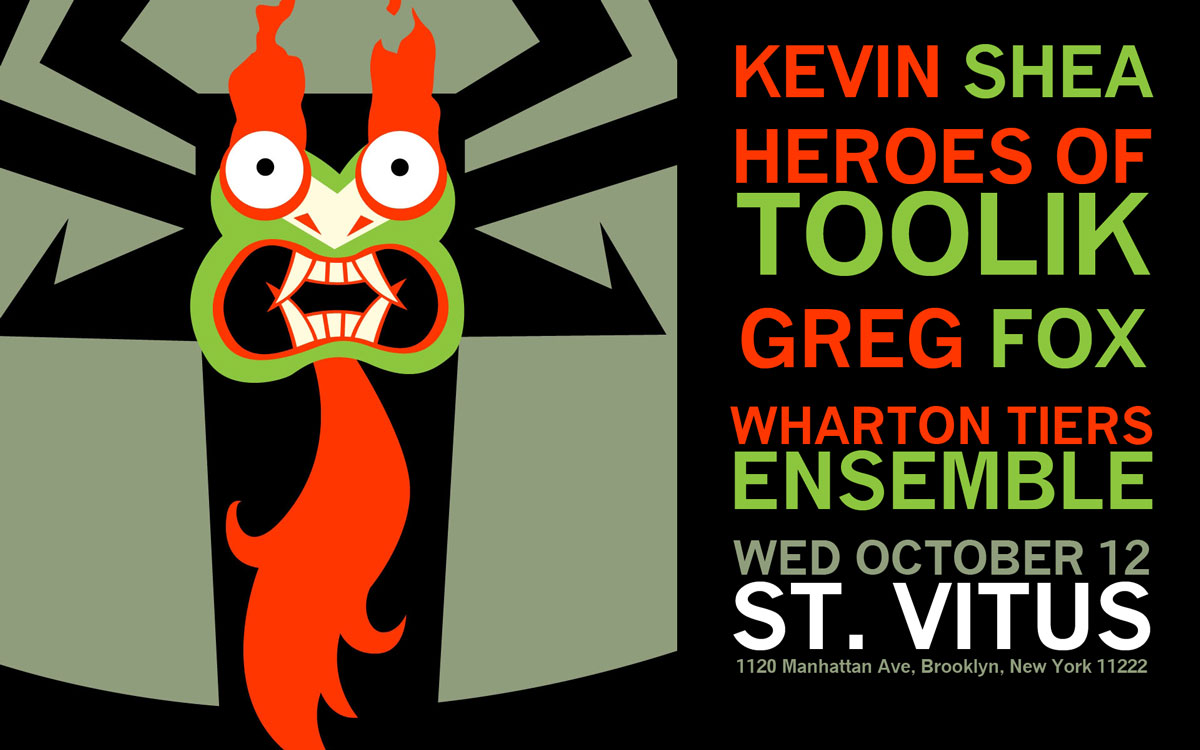 Heroes of Toolik, Kevin Shea, Greg Fox, Wharton Tiers at St. Vitus Bar, October 12, 2016